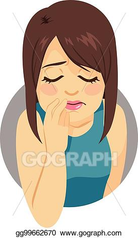 Depression clipart sad girl. Vector depressed illustration