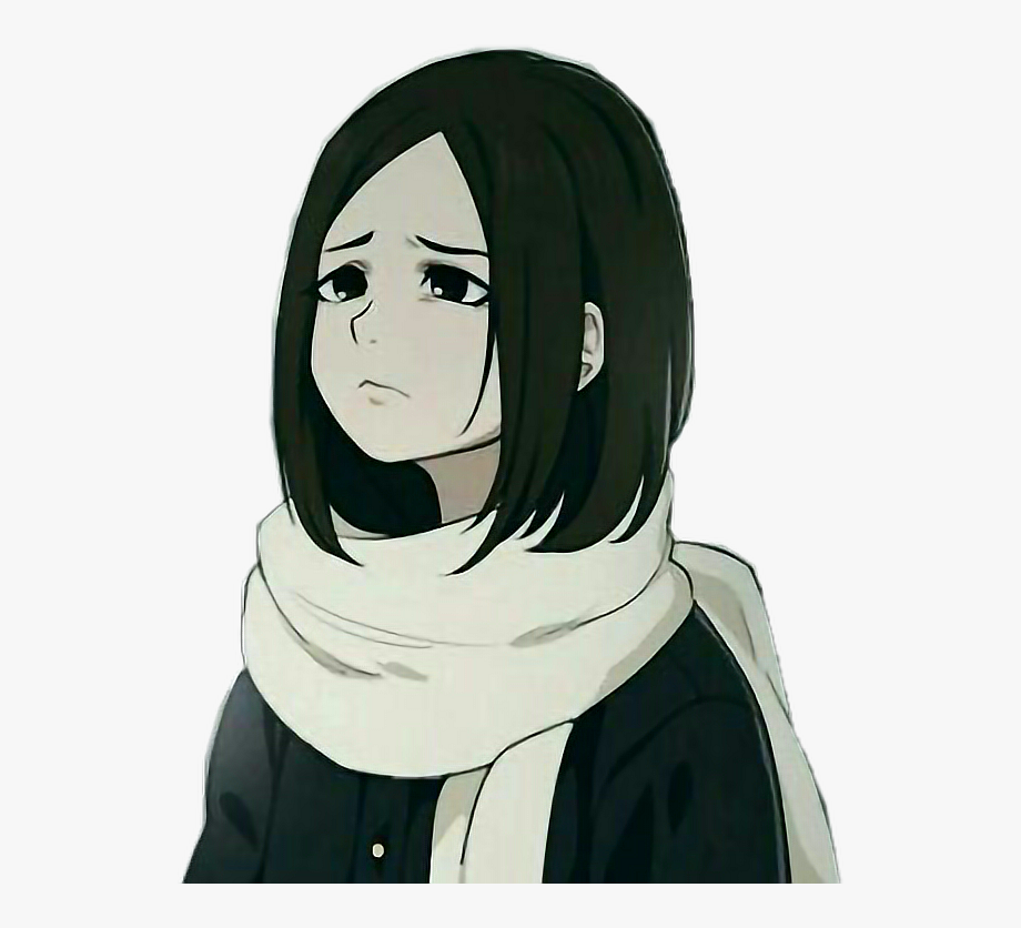 Anime animegirl sadgirl freetoedit. Depression clipart sad girl