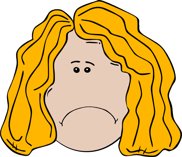 Depression clipart sad girl. Faced clip art at