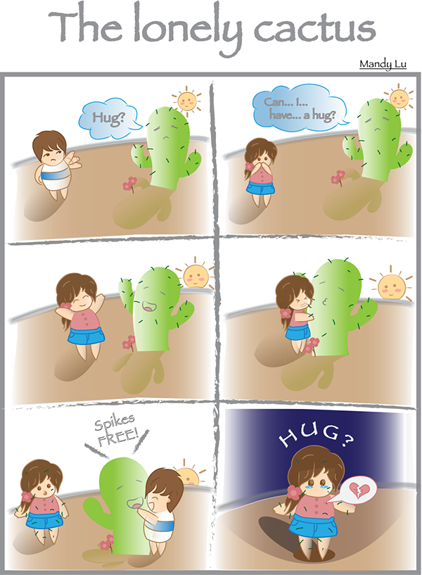 The lonely cactus on. Depression clipart sad little boy