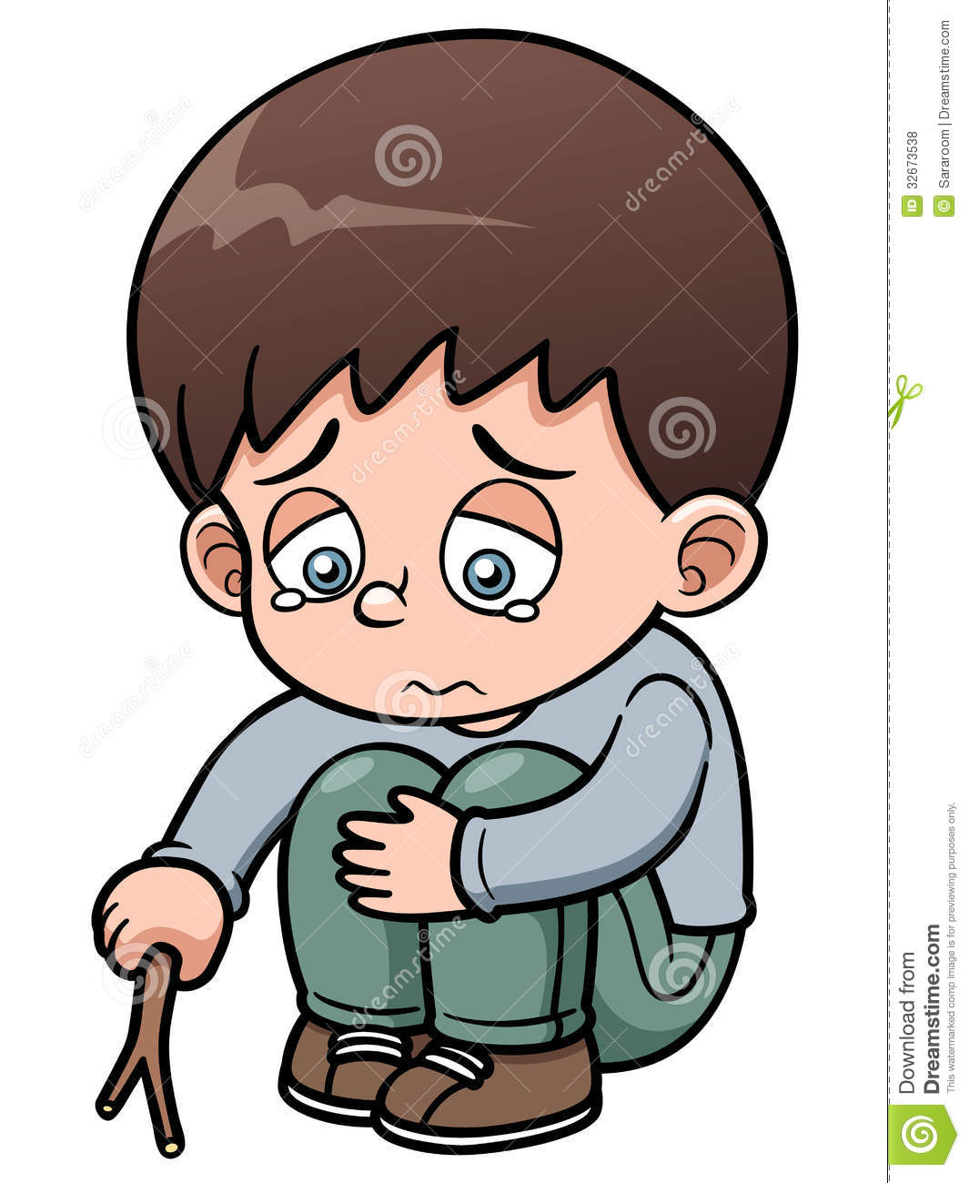 Depression clipart sad little boy.  clipartlook