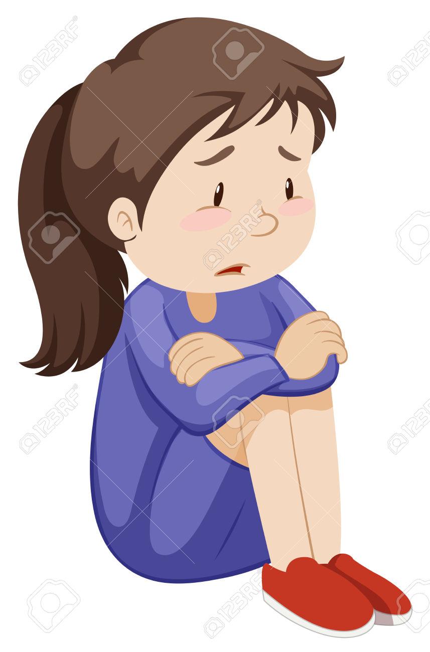 girl clipartlook. Depression clipart sad woman