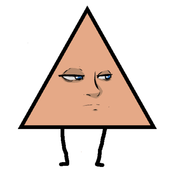 A triangle with veronica. Depression clipart sigh