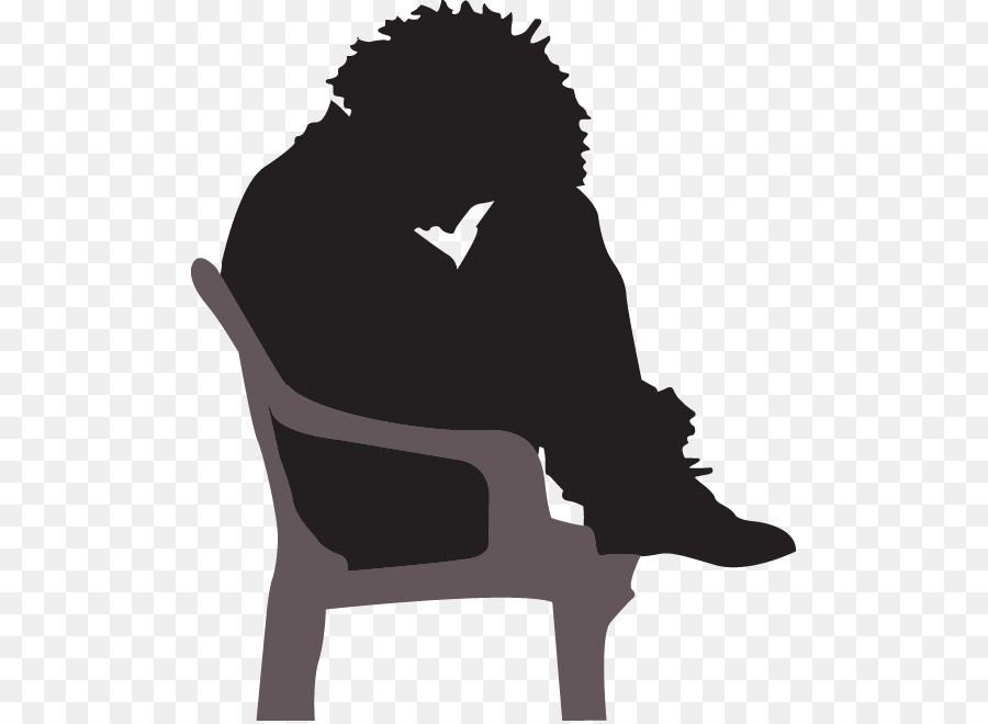 Depressed silhouette . Stress clipart depression