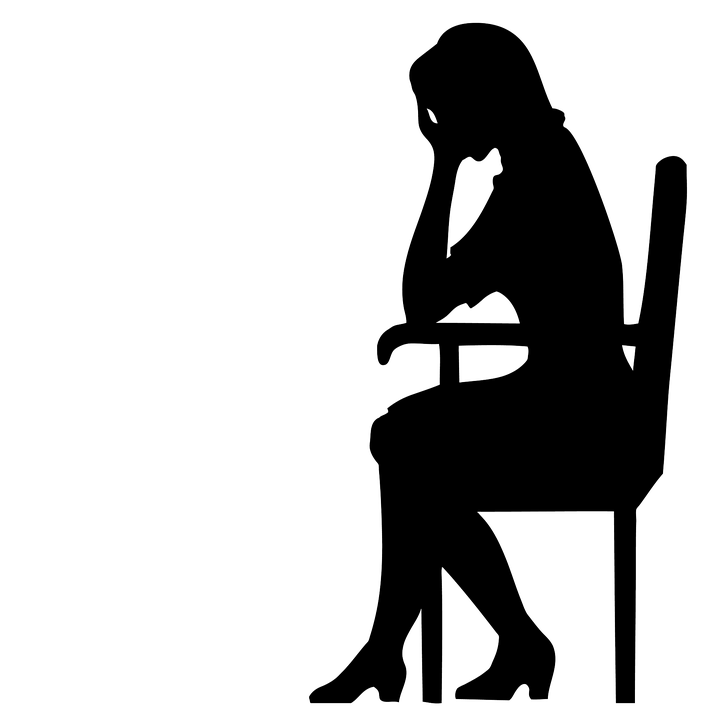 Depression clipart silhouette. Depressed girl free on