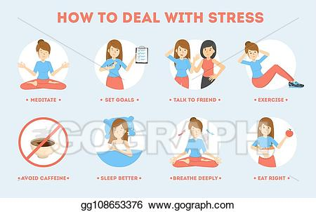 Depression clipart stressed. Eps vector how to