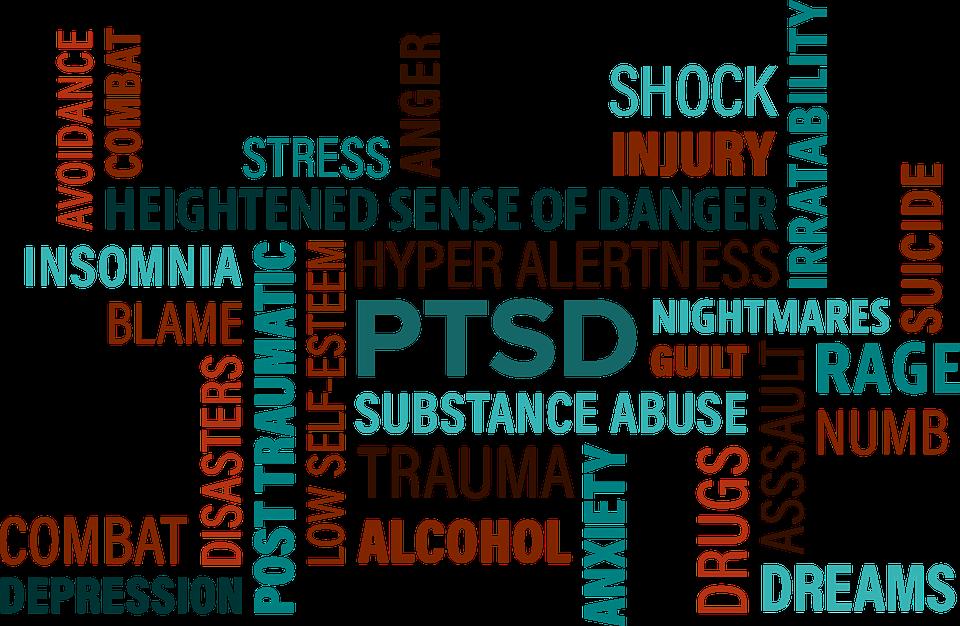 Trauma and ptsd treatment. Depression clipart word cloud