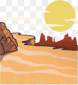 Desert clipart. Sand png vectors psd