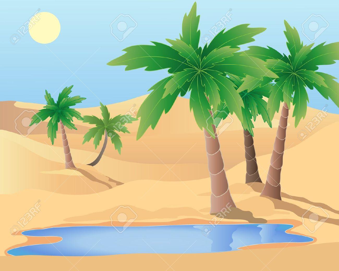 Palm simple images transitionsfv. Desert clipart