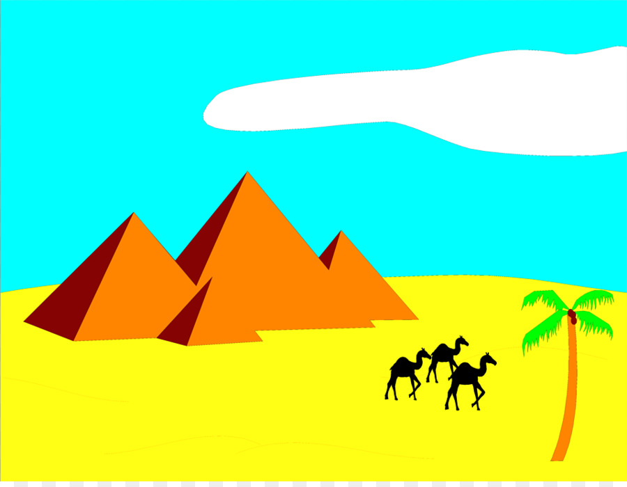 Sahara egyptian pyramids camel. Desert clipart
