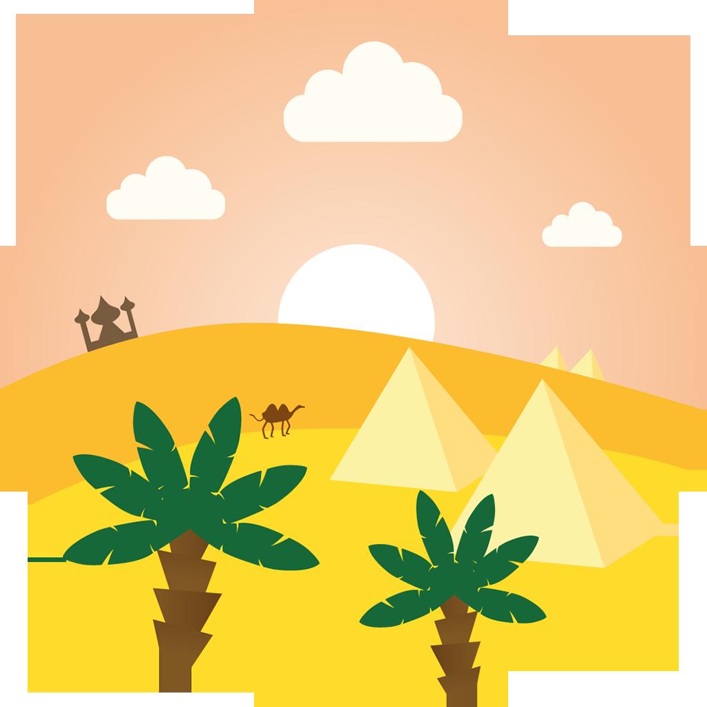Flat icons pinterest. Desert clipart arab desert