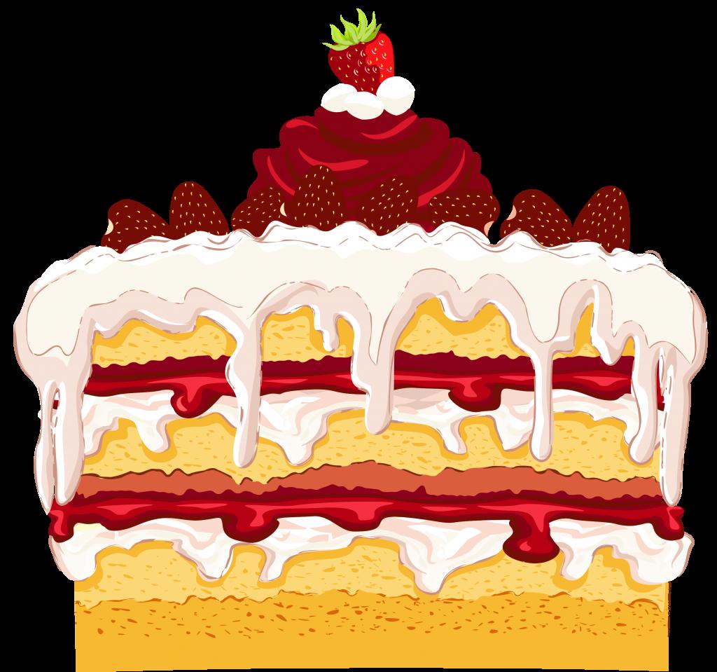 Best dessert strawberry cake. Desserts clipart different