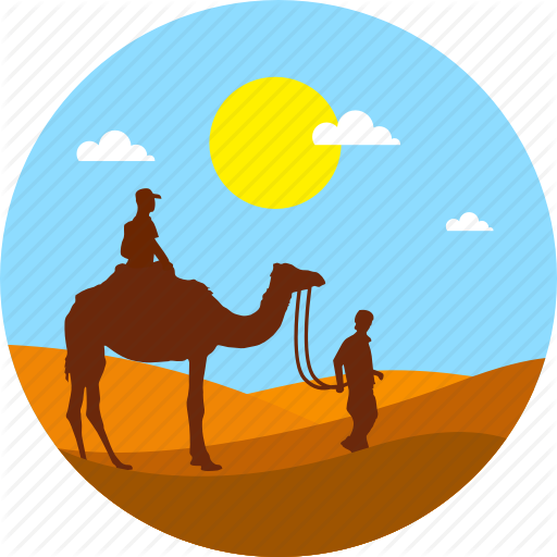 Desert clipart camel egyptian.  landscape by icontree
