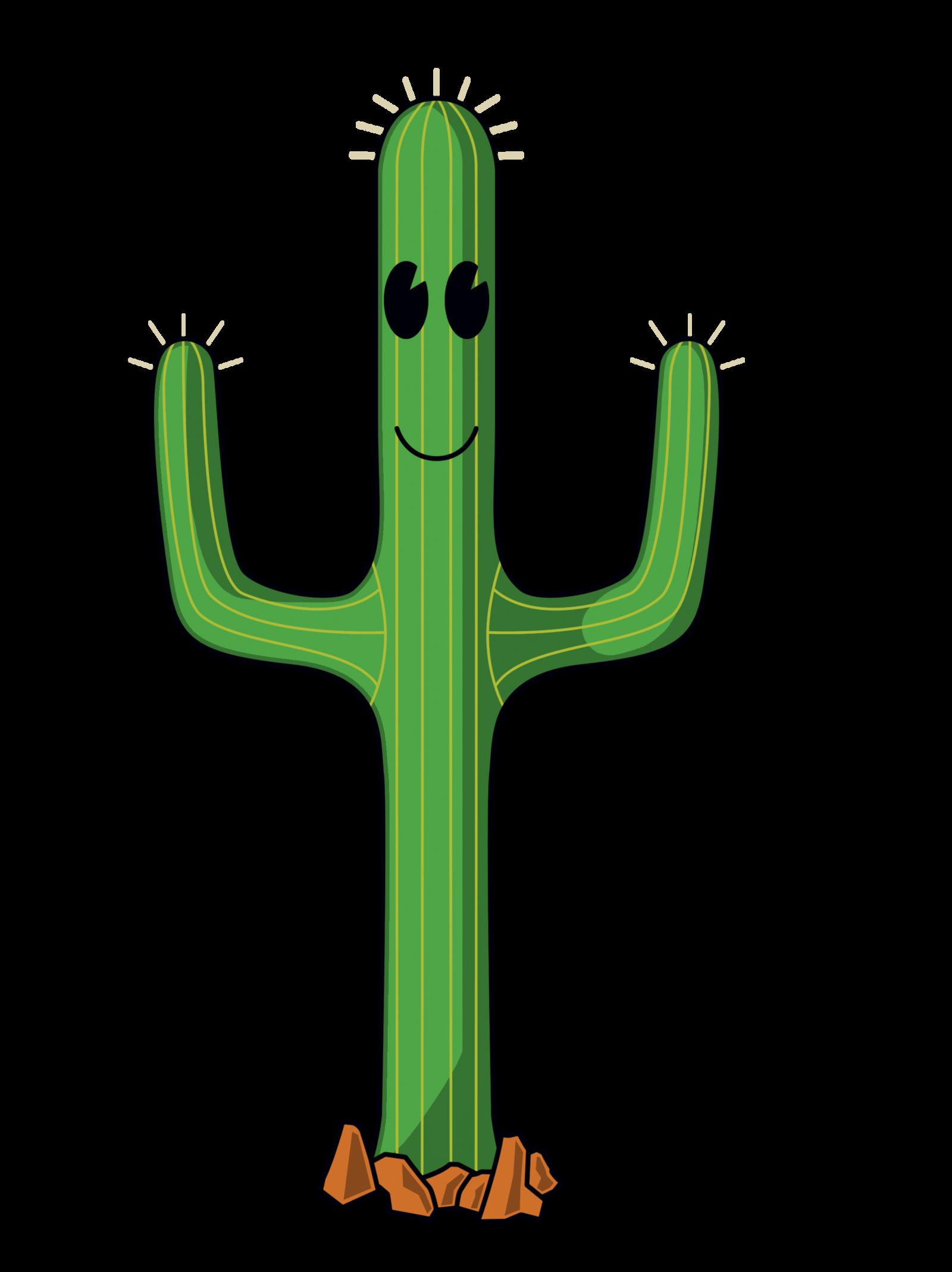 Cartoon desert clip art. Cactus clipart shape