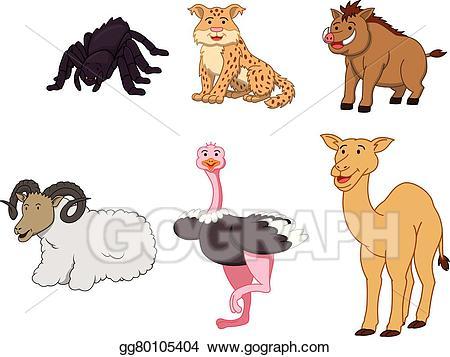 Vector art cartoon illustration. Desert clipart desert animal