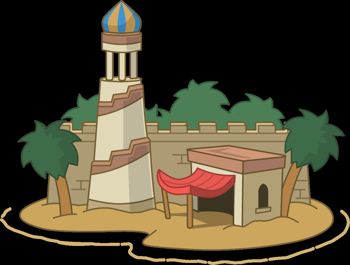 Desert clipart desert arabian. Nights island guide poptropica