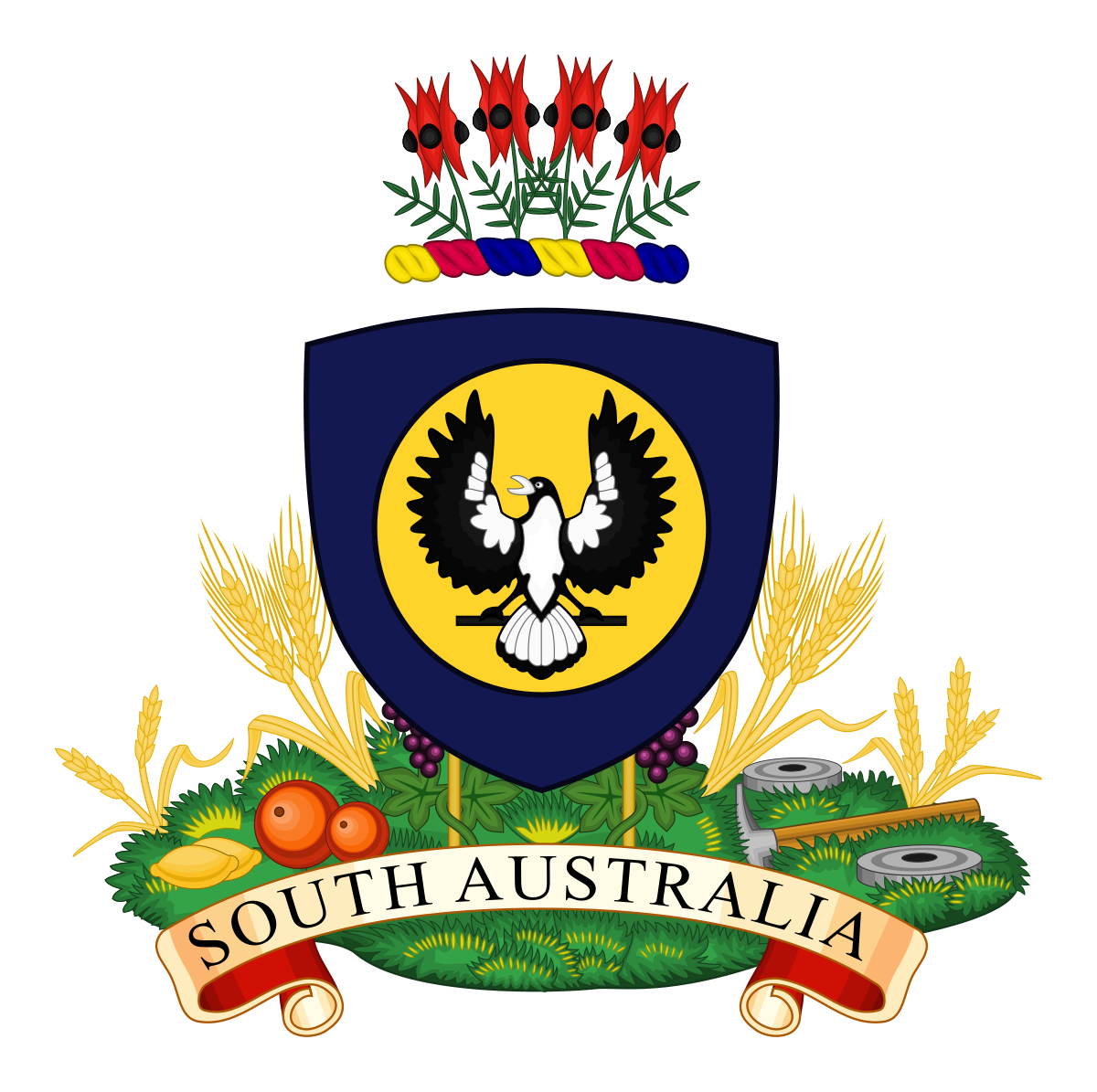 Coat of arms south. Wheat clipart heraldic