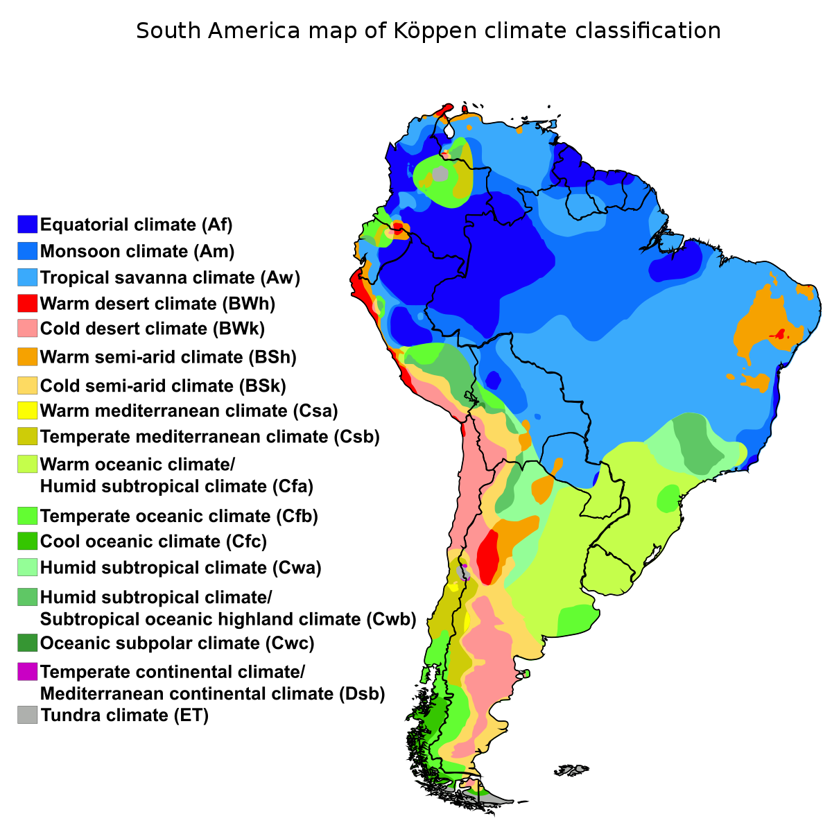 File south america map. Sunny clipart climate