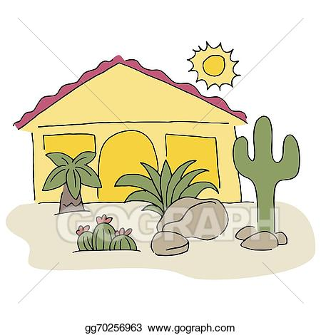 Desert clipart desert house. Vector stock home with