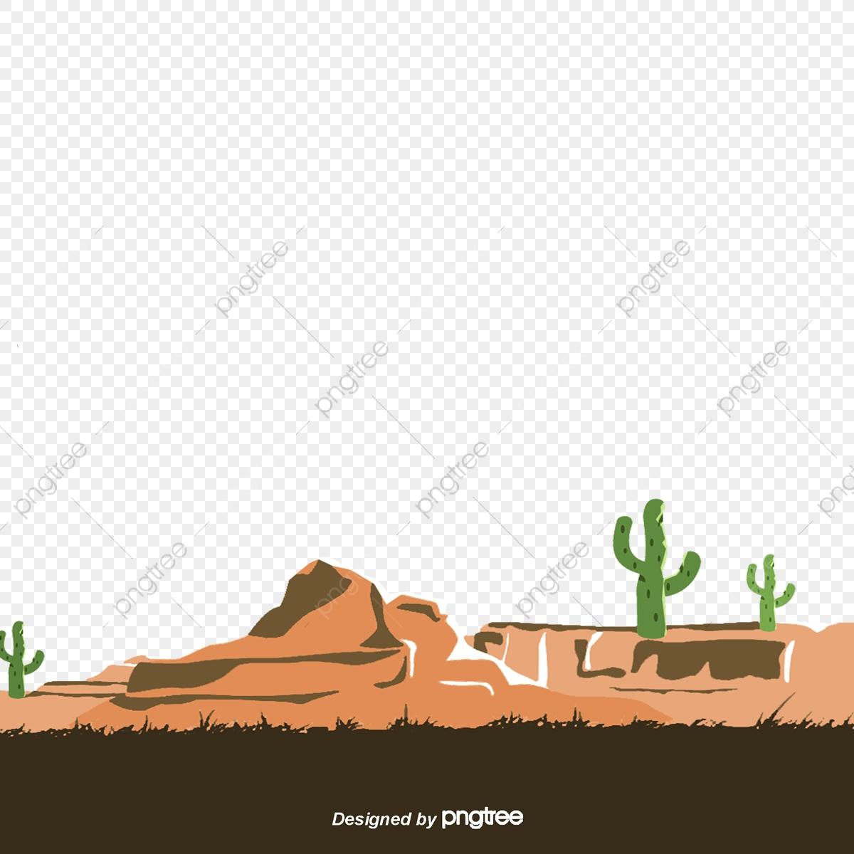 Hand painted cactus . Desert clipart desert land