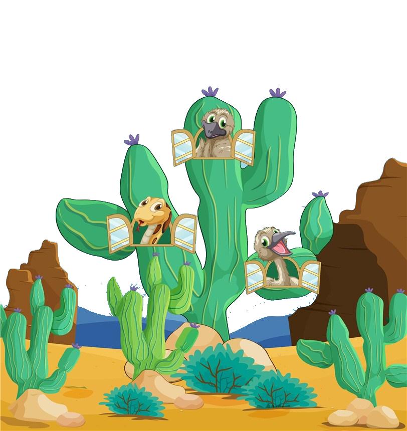 Xerocole animal clip art. Desert clipart desert plant