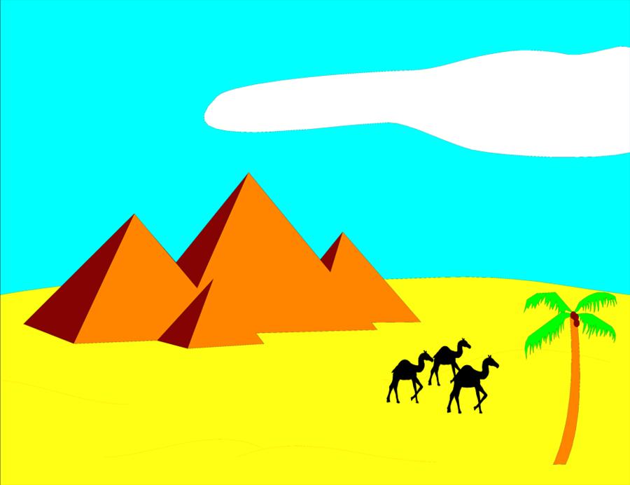Grass background illustration yellow. Egypt clipart desert pyramid
