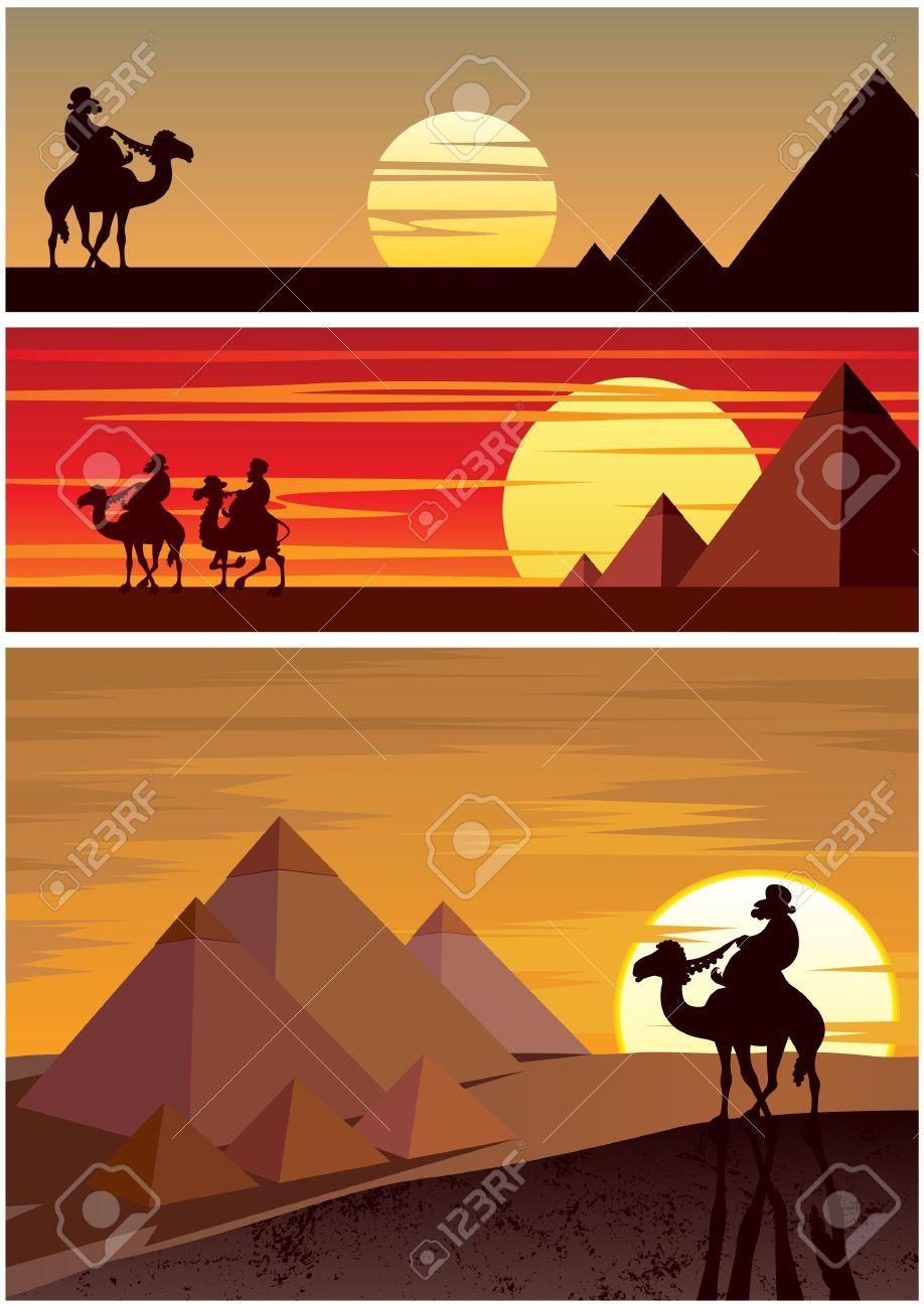 Egypt clipart desert pyramid. Stock vector in tattoo