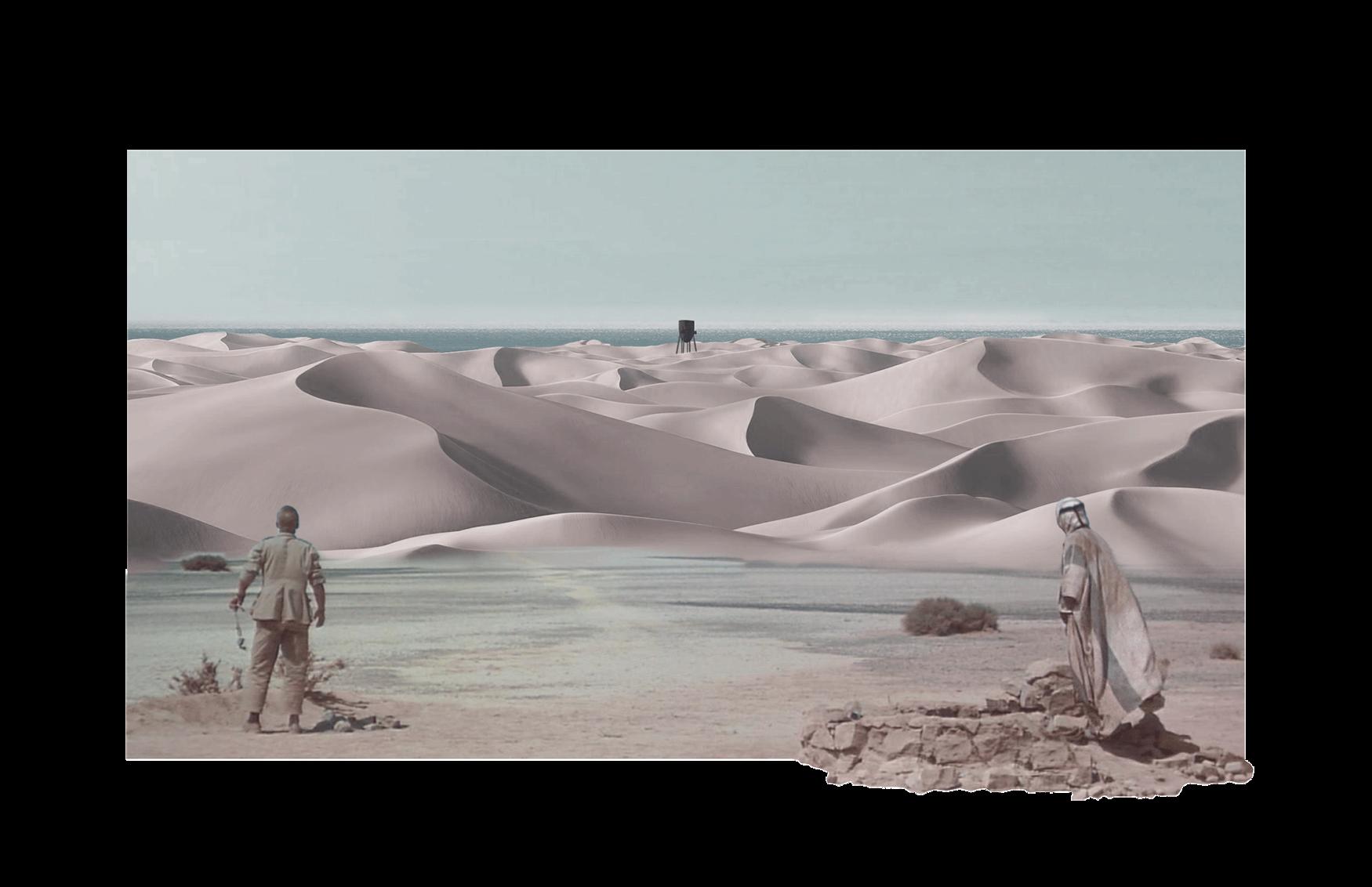 Desert clipart desert scene. Watertower the kennedy archive