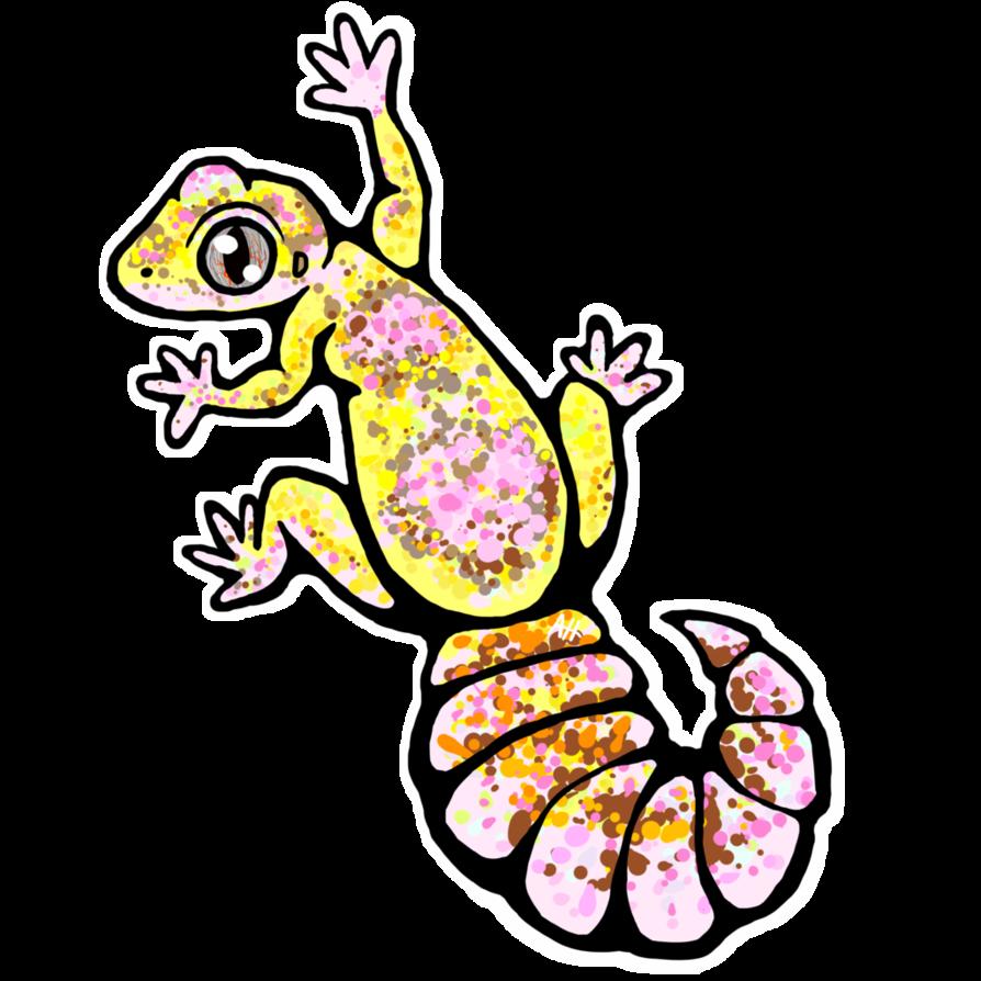 Gecko clipart line drawing. Leopard sticker tremper albino