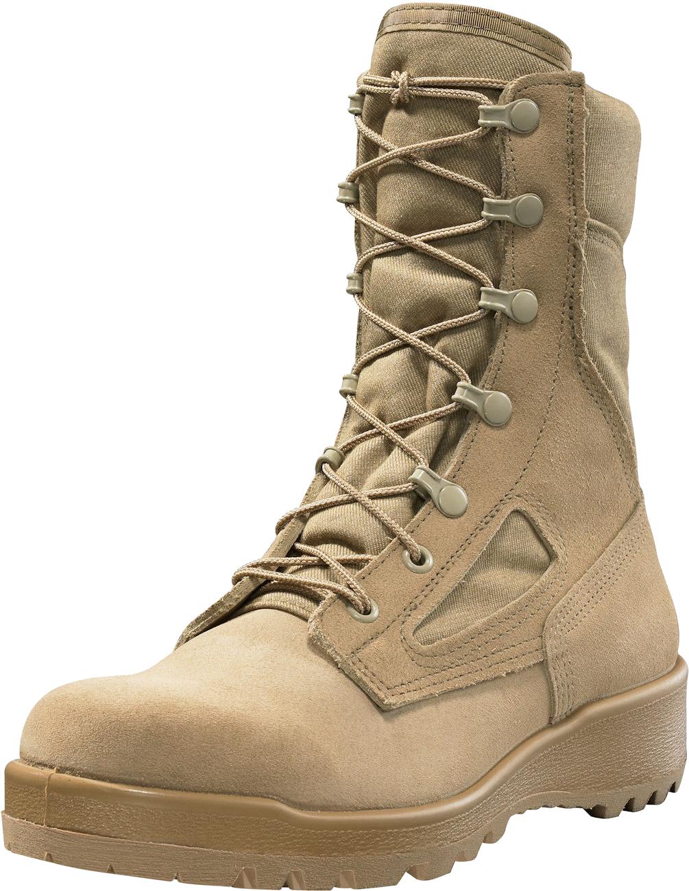 Desert tan combat boots. Hike clipart brown boot