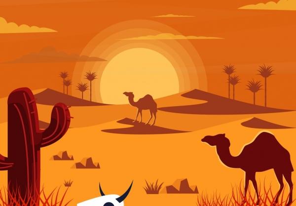 Station . Desert clipart hot desert