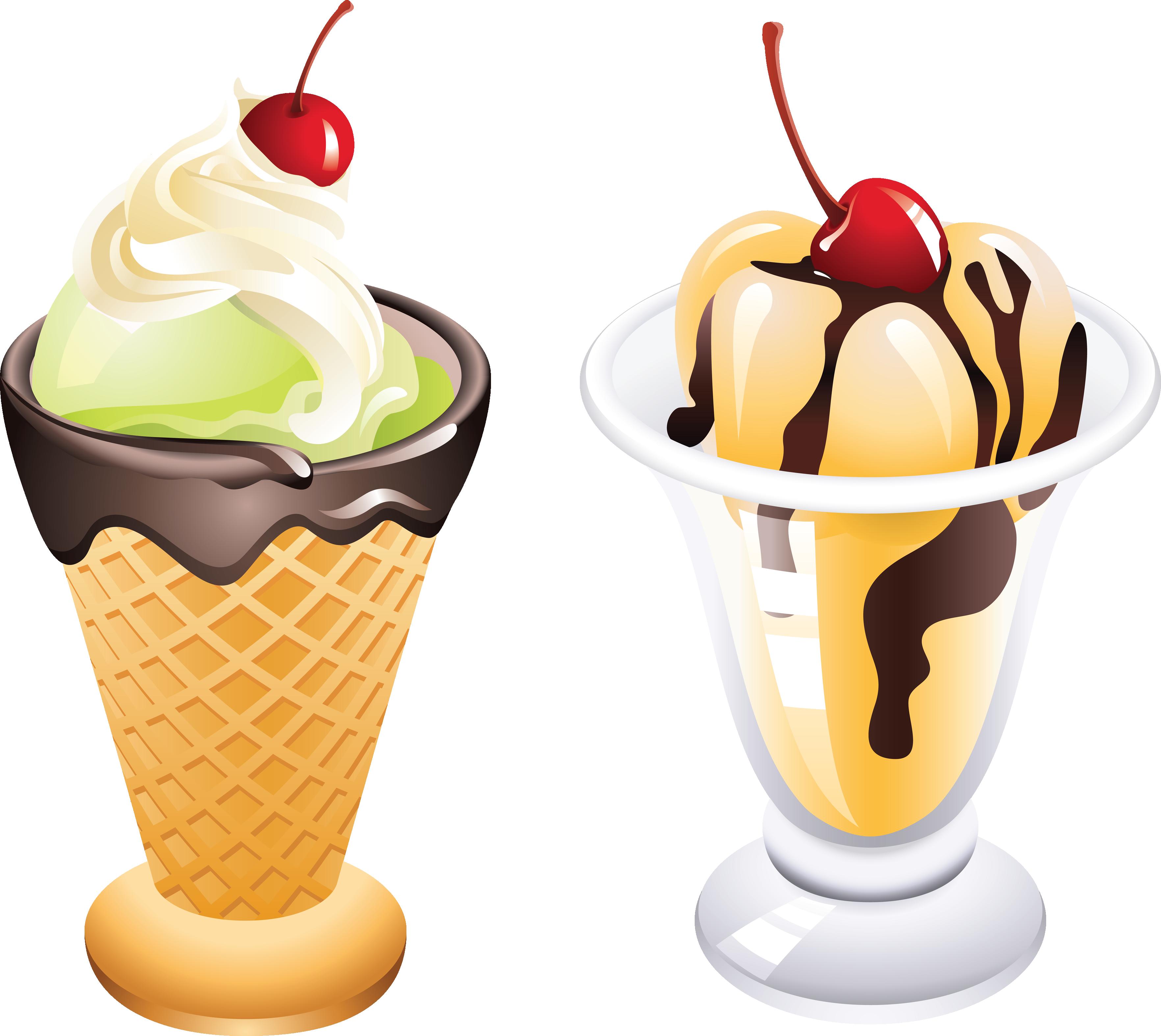 desert clipart hot fudge sundae