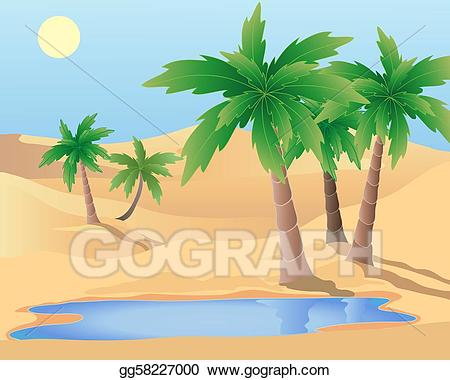 Vector stock illustration gg. Palm clipart oasis