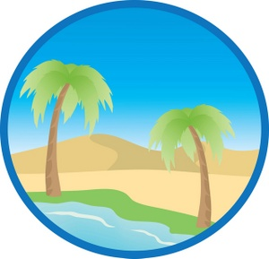 Palm clipart oasis. Free cliparts download clip