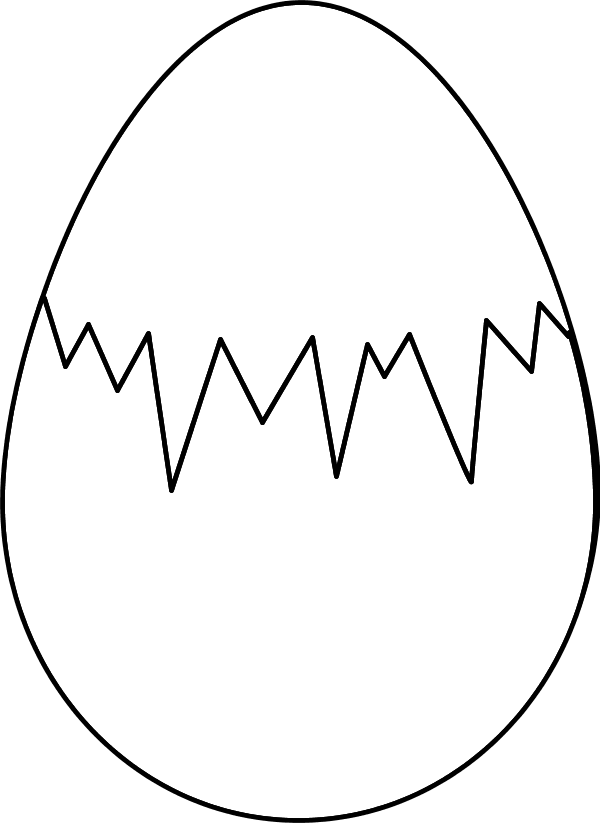 Egg pencil and in. Desert clipart outline