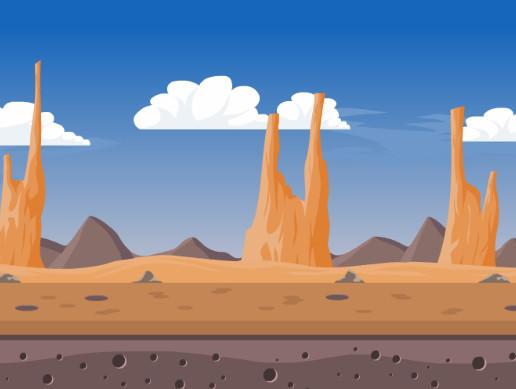 Desert clipart rocky desert. Asset store