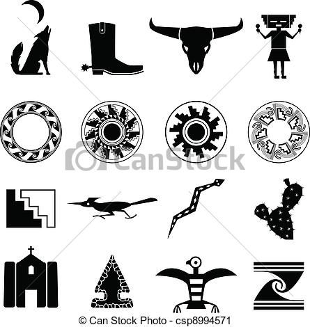 Icons csp cards southwestern. Desert clipart southwest desert