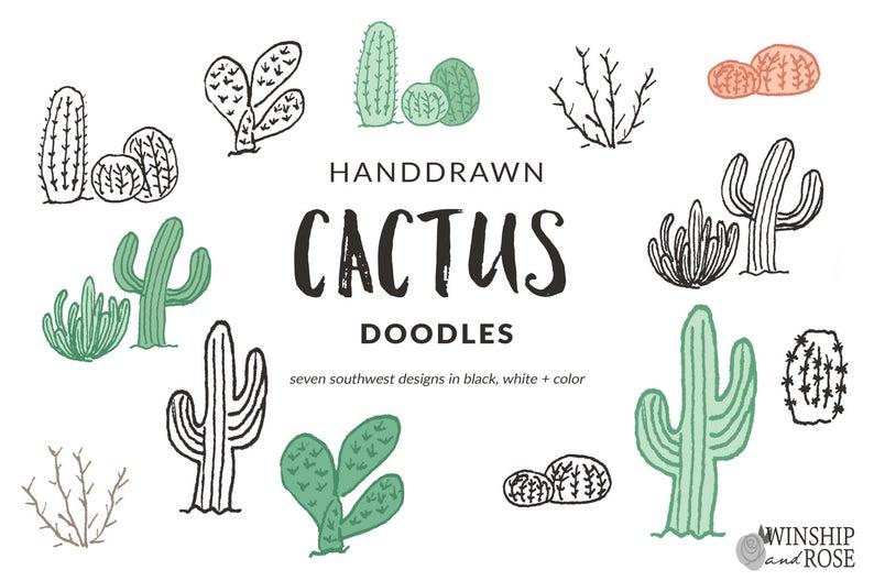 Desert clipart southwest desert. Cactus clip art hand