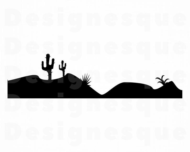 Cactus western files for. Desert clipart svg