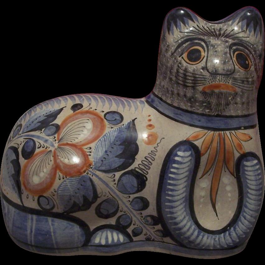 Desert clipart village mexican. Vintage large tonala pottery