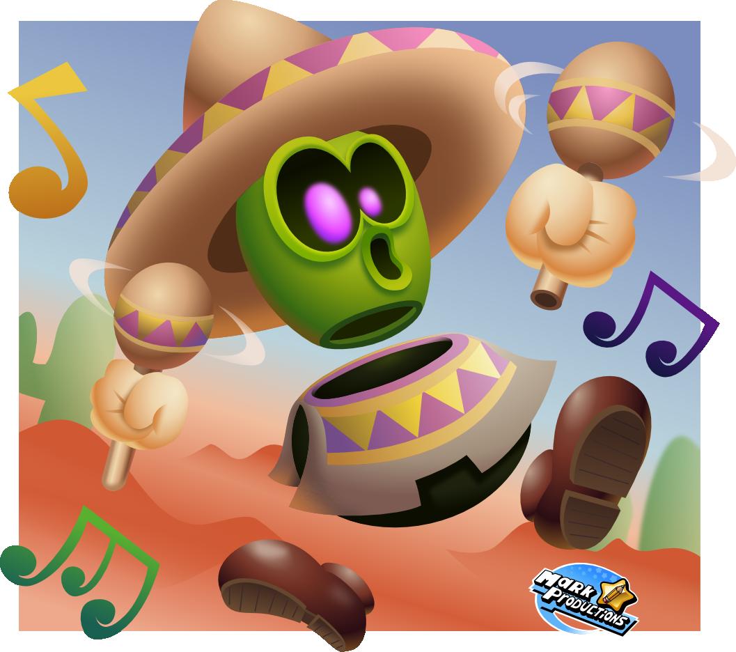 Super mario odyssey sombrero. Desert clipart village mexican