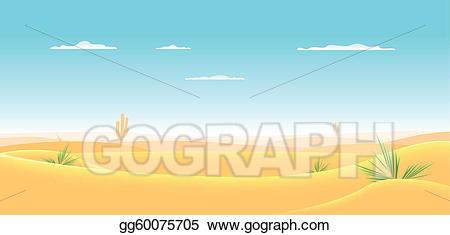 Vector stock deep clip. Desert clipart western desert