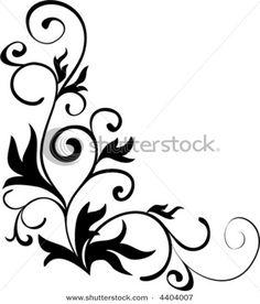 Design clipart. Floral corner frame vector
