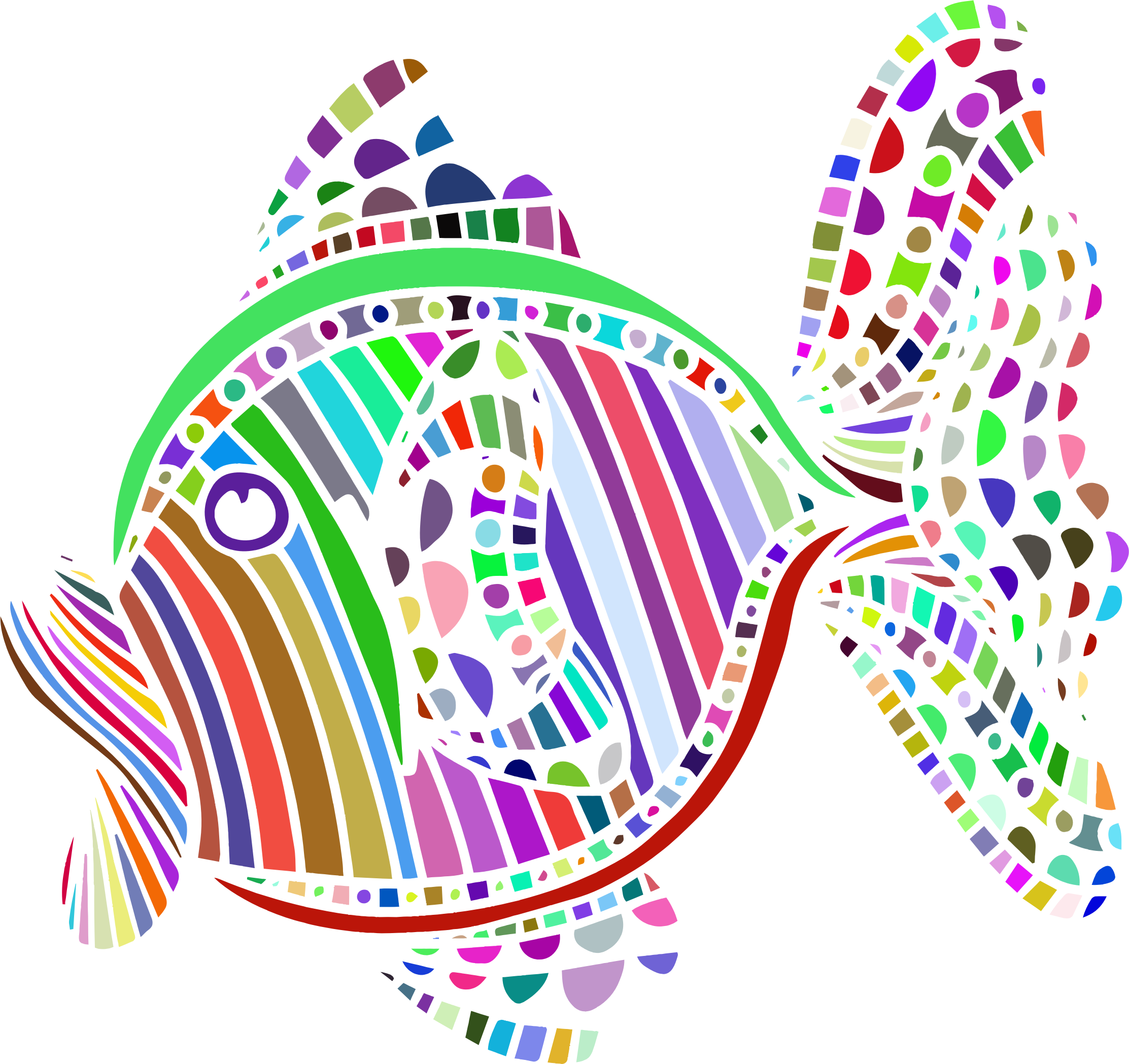 Charming design colorful fish. Dreaming clipart abstract