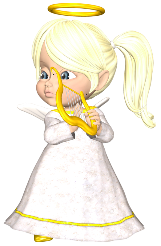 Design clipart angel. Cute blonde with harp