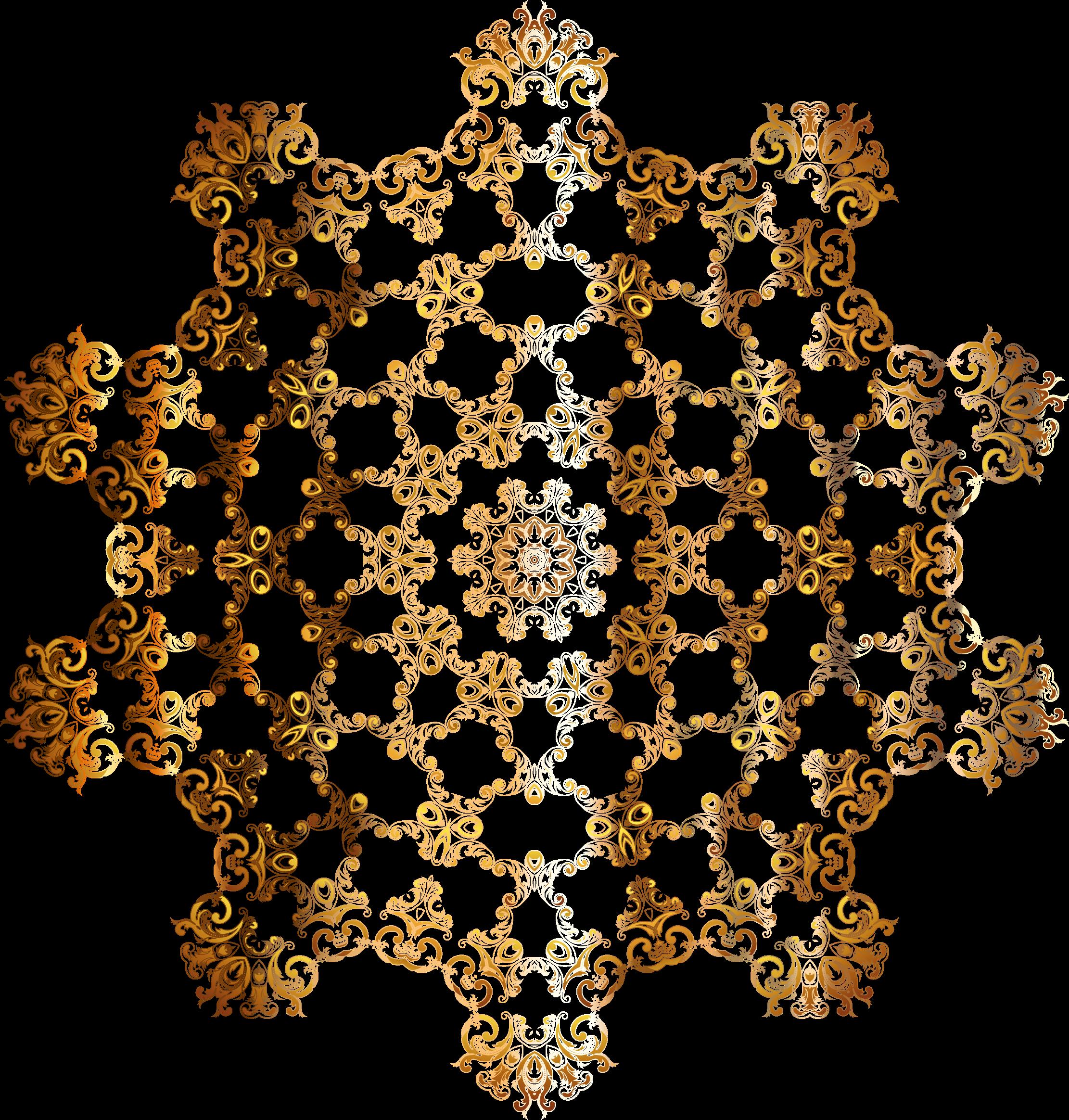 Gold vintage floral mark. Design clipart background