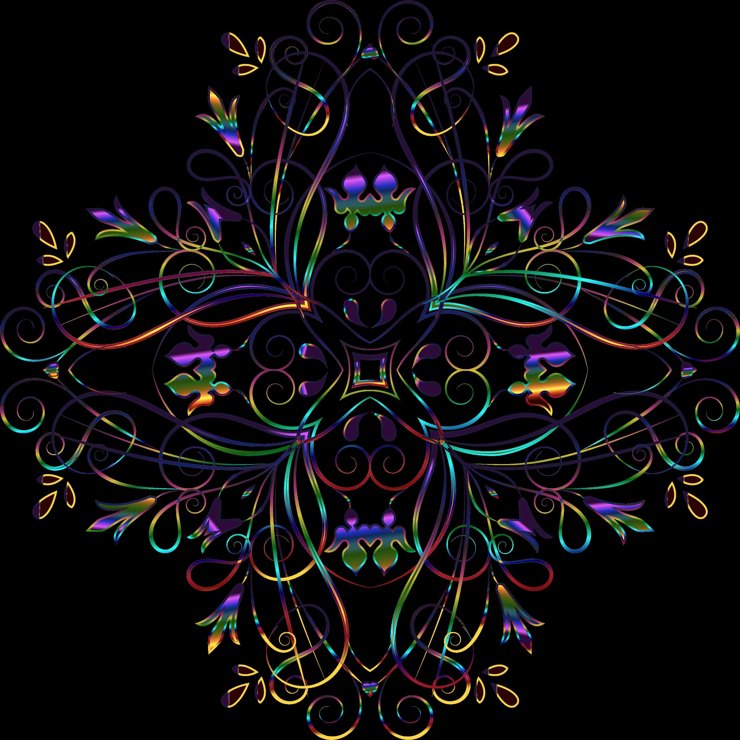 Flourishy floral variation no. Design clipart background
