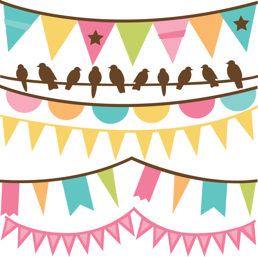 Design clipart banner. Pink background illustration