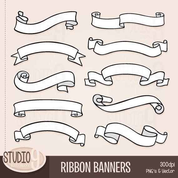Ribbon banners clip art. Design clipart banner