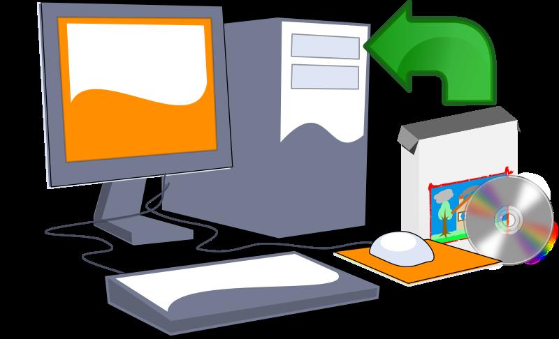 Install software cd medium. Design clipart computer